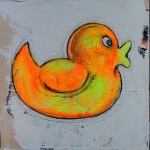 DUCKIE 30x30cm acrylics on canvas