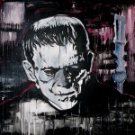 FRANKY, mixed media on canvas, 100x100 cm (2009)