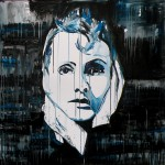GRETA, mixed media on canvas, 100x100 cm (2012)