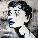 AUDREY, mixed media on canvas, 100x100 cm (2013)