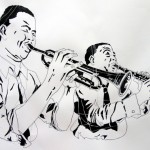 BLUES-&-JAZZ, India ink on paper, 30x21 cm (2014)