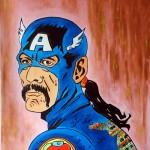 CAPTAIN AMERICA LATINA, mixed media on canvas, 100x60 cm (2014)
