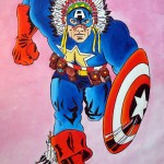 CAPTAIN NATIVE AMERICA , mixed media on canvas, 130x90 cm (2014)