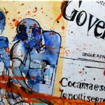 GOVERNO NEL CAOS, mixed media on canvas, 40x100 cm (2012)