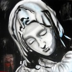 PIETA, 100x100 cm, acrylics on canvas (2015)