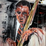 RAY BROWN, 100x80 cm, acrylics on canvas (2015)