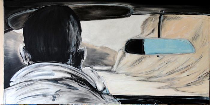 ''ROAD'' 140x60cm acrylics