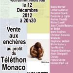 TELETHON Monaco - Charity art auction (Dec. 2012)