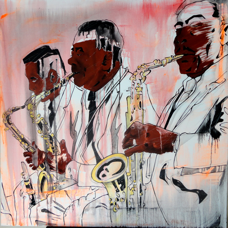 TRIO, 100x100 cm, acrylics on canvas (2015)