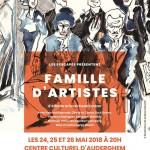 """affiche """"Famille d'Artiste"""" théâtre 2018"""
