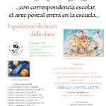 """affiche """"l'arte postale entre a scuola"""" villa Valmarana Oriago giugno 2019"""